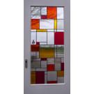Modern, licht, warme kleuren, antiekglas
