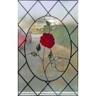 Raamhanger Roos (maatwerk combi glas-in-lood Tiffany)