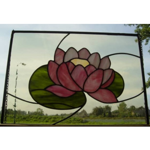 Tiffany raamhanger lotusbloem