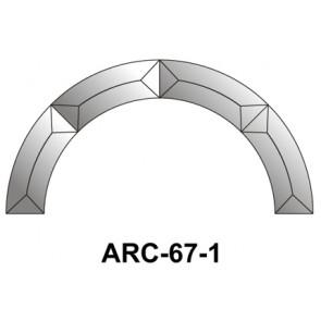 Facet boog 200mm (ARC-67-1)