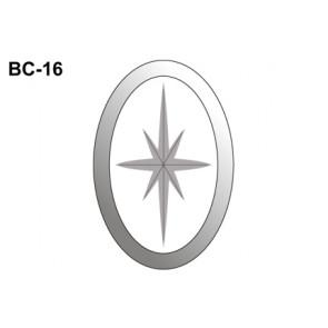 Facet ovaal met figuur 102x152mm (BC-16)