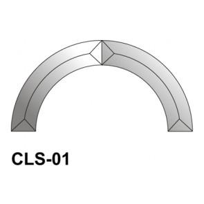 Facet boog 185mm (CLS-01)