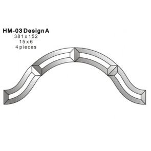 Facet boog 381x152mm (HM-03)