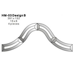 Facet figuur 381x152mm (HM-03B)