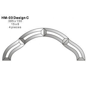 Facet figuur 385x150mm (HM-03C)