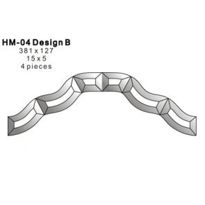 Facet figuur 381x127mm (HM-04B)