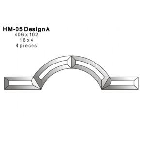 Facet boog 406x102mm (HM-05A)