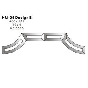Facet figuur 406x102mm (HM-05B)