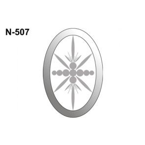 Facet ovaal 101x152mm (N-507)