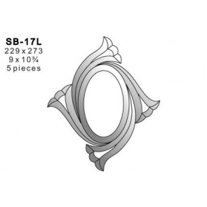 Facet ornament 229x273mm (SB-17L)