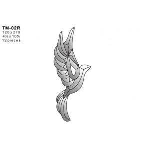 Facet vogel 120x270mm (TM-02R)