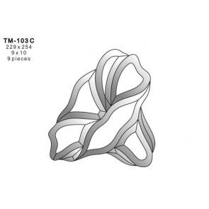Facet bloem 229x254mm (TM-103C)