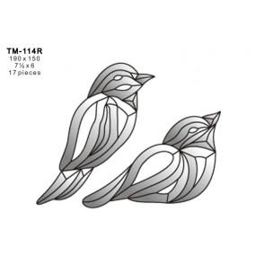 Facet vogel 190x150mm (TM-114R)