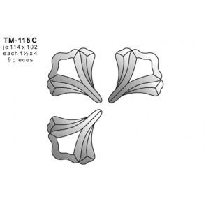 Facet bloem 114x102mm (TM-115C)