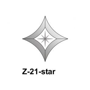 Facet wyber/vierkant toog 102x102mm (Z-21star)