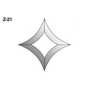 Facet wyber/wyber toog 107x107mm (Z-21)