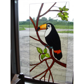 Kaketoe raam (maatwerk Tiffany)