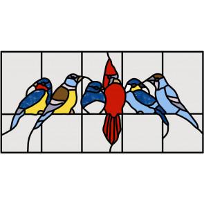 Patroon 5 vogeltjes (klein)