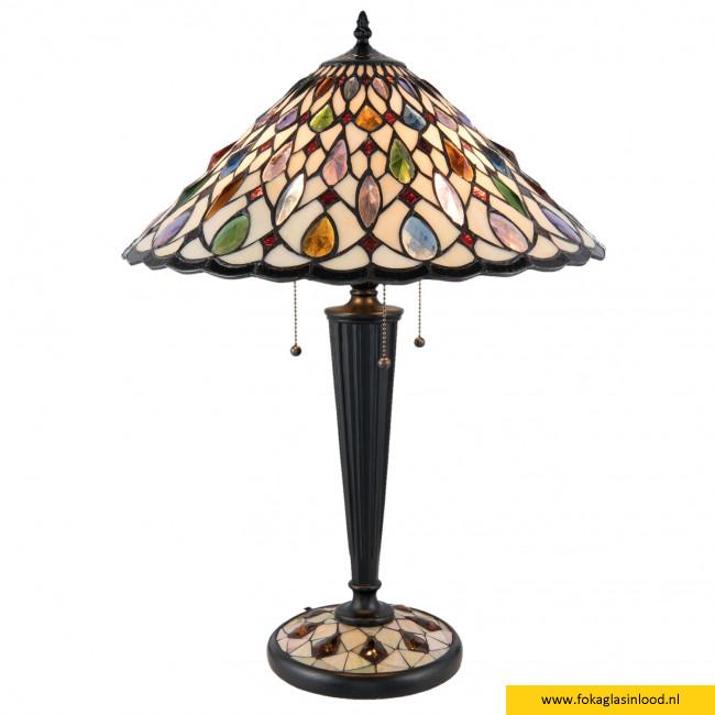 Tafellamp gekleurde nuggets 46cm