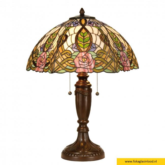 Tafellamp Art Nouveau Roze Ø 47cm