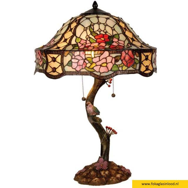 Tafellamp compleet Rozenstruik 46cm