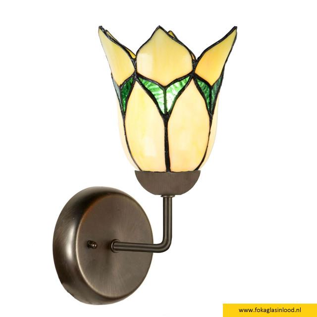 Wandlamp Lovely Flower geel