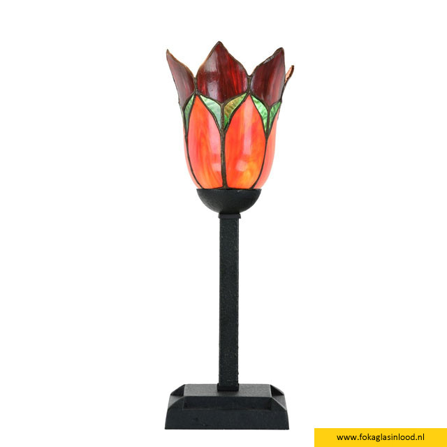 Tafellampje Lovely Flower Red
