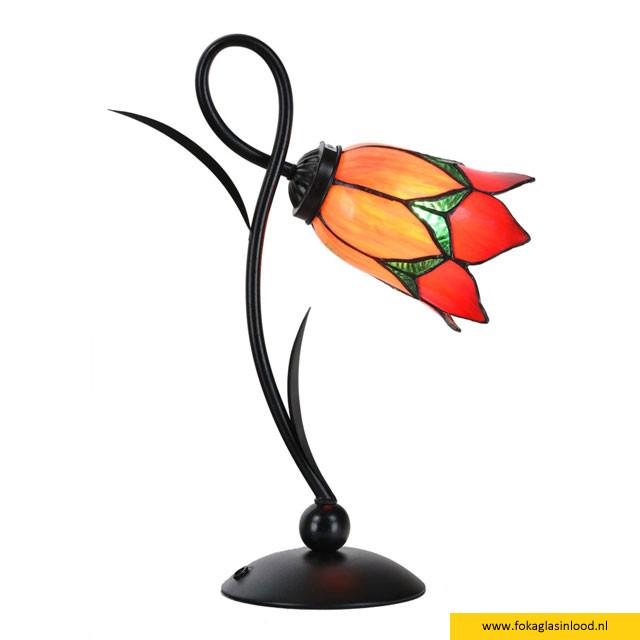 Tafellampje Lovely Flower Red Romantic