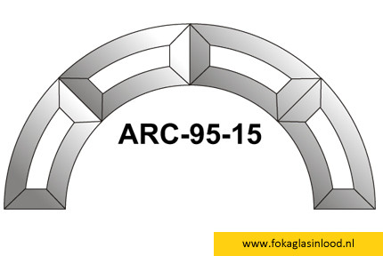 Facet boog 230mm (ARC-95-15)