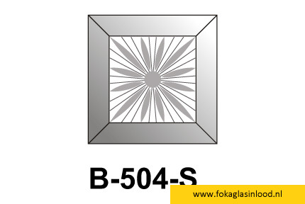 Facet vierkant met ster 76x76mm (B-504S)