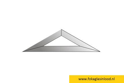 Facet driehoek 51x176 (HD-47)