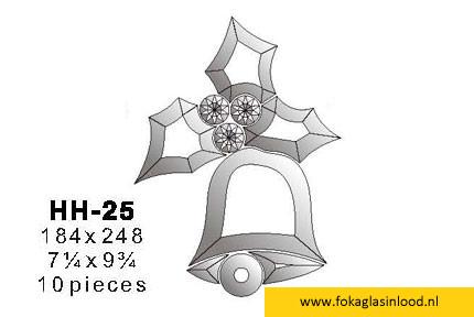 Facet kerstklok 184x248 (HH-25)