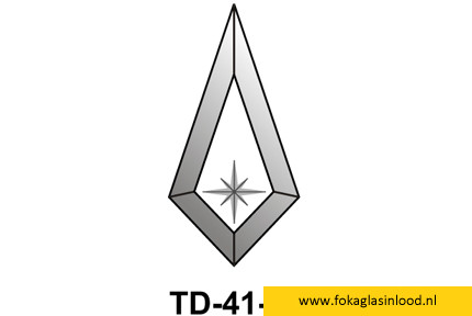 Facet druppel 75x145mm (TD-41star)