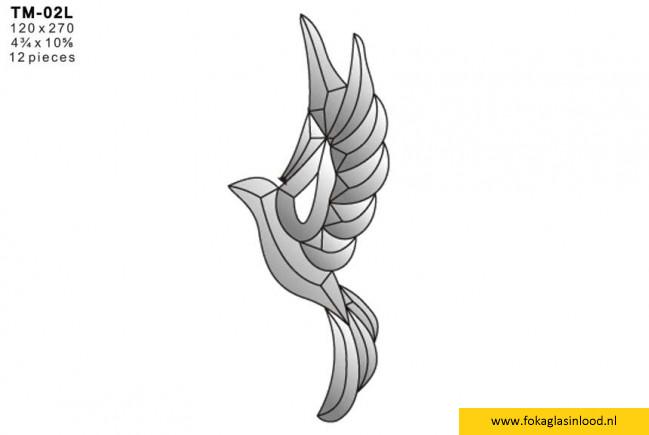 Facet vogel 120x270mm (TM-02L)