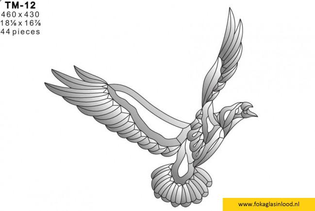 Facet vogel 460x430mm (TM-12)