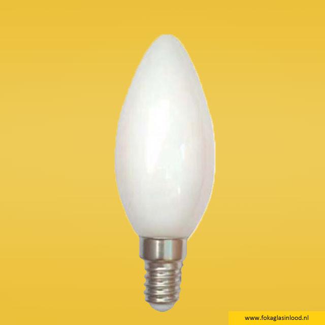LED-lamp E14 kaars melkglas Ø 9,8cm (niet dimbaar)
