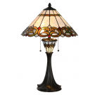 Tafellamp bruintinten 40cm