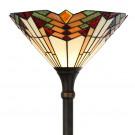 Vloerlamp van Tiffanyglas Ø 30cm