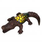 Decoratie 30x17cm krokodil