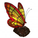 Decoratie 15x27cm vlinder
