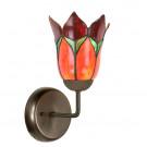 Wandlamp Lovely Flower rood