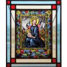 Glasinlood 013 | 24x33 cm voorzetraam gebrandschilderd oud