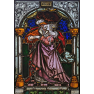 Glasinlood 017 | 39 x 64 cm voorzetraam uit 1918