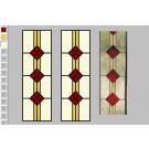 Patroon Glas-in-lood recht met blok