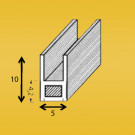 Loodprofiel U10mm (staalkern) 25-3 verwacht