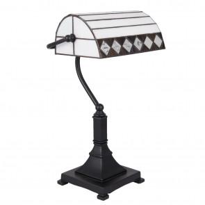 Bureaulamp white square Ø 26cm