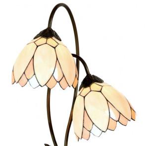Bureaulamp witte bloem