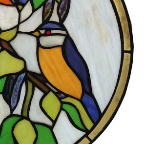 Glaspaneel vogeltjes 30cm