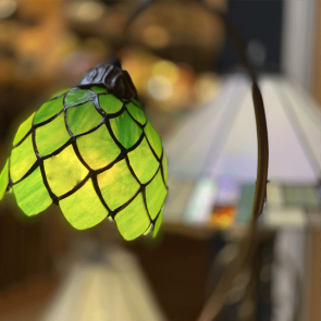 Tafellamp groen 28cm