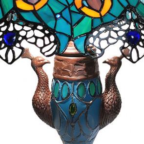 Tafellamp pauw meerkleurig 56x68cm